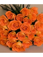 25 Long Stem Tangerine Roses