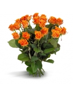25 Long Stem Orange Roses