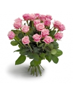25 Long Stem Pink Rose Bouquet