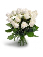 25 Long Stem White Roses