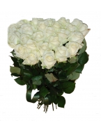 30 White Rose Bouquet