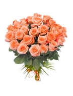 50 Long Stem Orange Rose Bouquet