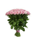 50  Pink Roses Bouquet with FREE Vase
