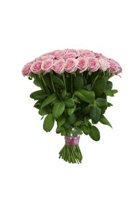 50  Long Stem Pink Roses Bouquet with FREE Vase