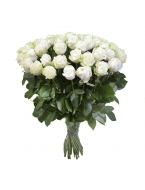 50 Long Stem White Roses