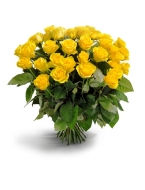 50 Long Stem Yellow Rose Bouquet