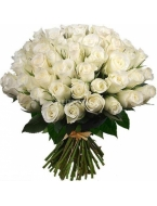 75 Long Stem White Roses