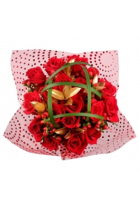 Christmas Red Rose Bouquet