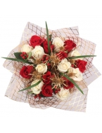 Christmas Red&White Rose Bouquet