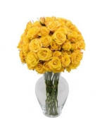 25 Long Stem Yellow Roses