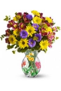 Yellow Roses with Yellow Alstromeria Bouquet